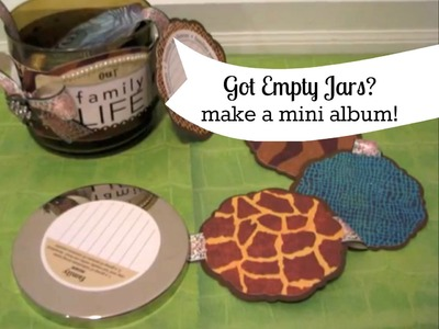 How to turn an empty candle jar into a mini album   Maymay Made It