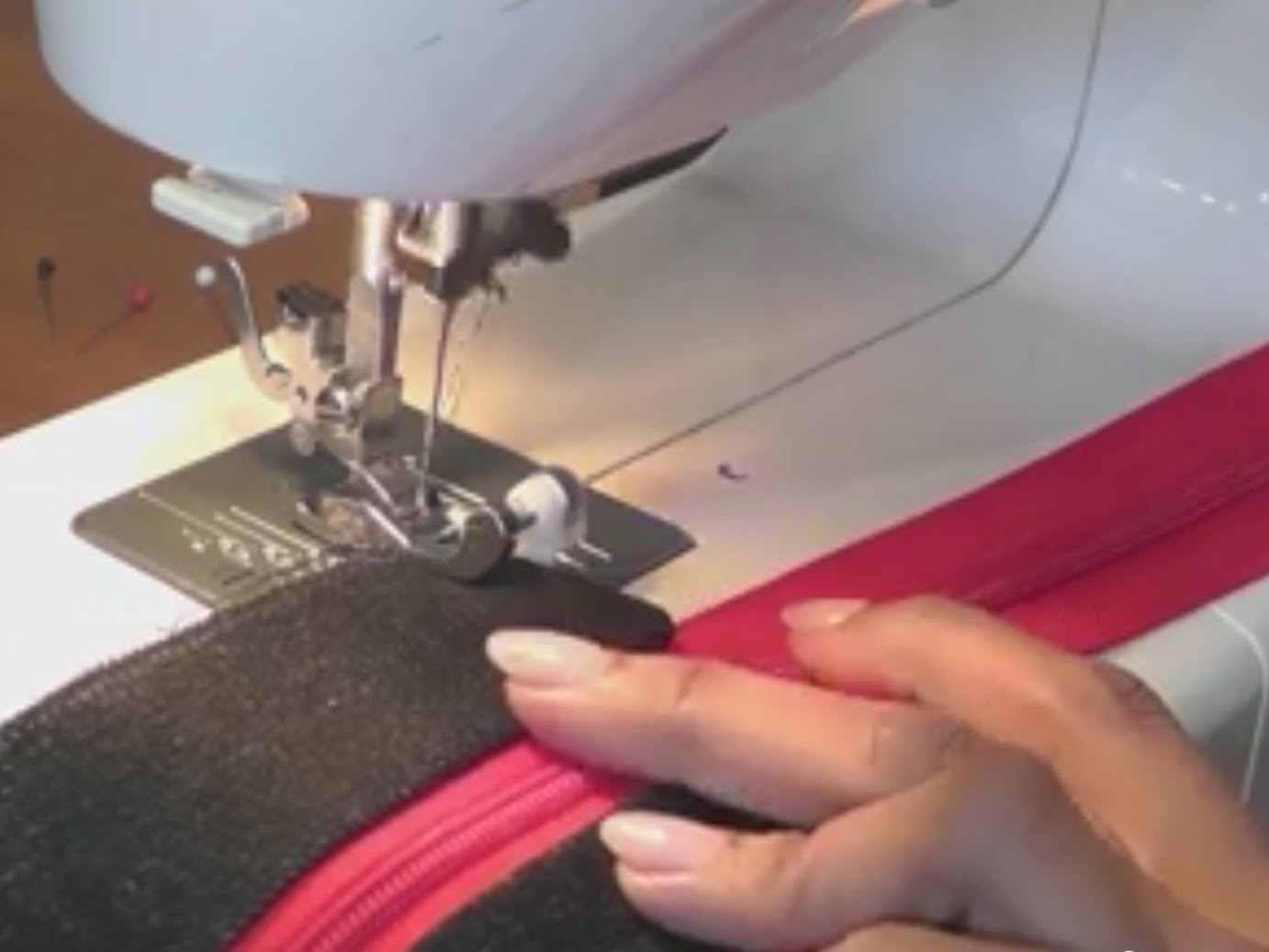 Inserting zipper into any bag - Designer tote bag. Recycled Jeans