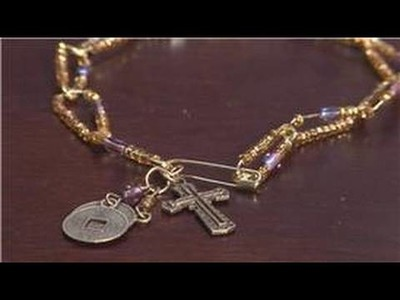 Jewelry Making With Household Items : How to Make Safety Pin Jewelry