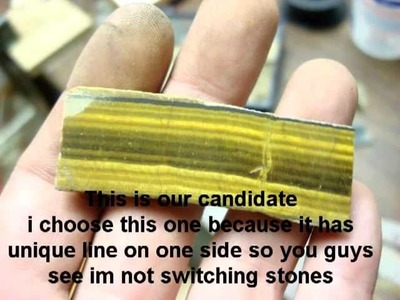 Lapidary: Tigers Eye tricks,color change to red at home!