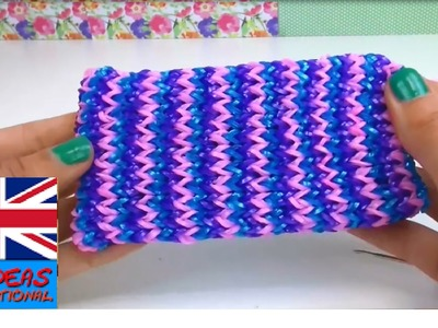 Loom bands phone case easy - how to make a phone cover - Rainbow Loom Cell Phone tutorial
