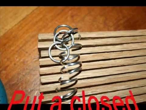 Making chain mail with a very easy jig