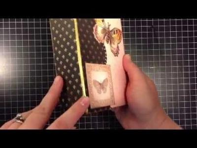 Mariposa mini album - Tutorial by mysistersscrapper