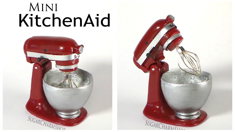 Miniature KitchenAid. Stand Mixer - Polymer Clay Tutorial