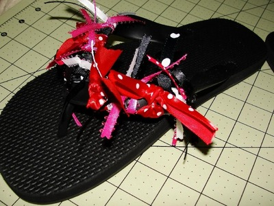 Minnie Mouse Flip Flops (Slippers) Tutorial