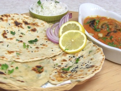 No Yeast Tawa Naan Recipe Video - Quick & Easy Yeast free naan or Pizza dough Recipe!