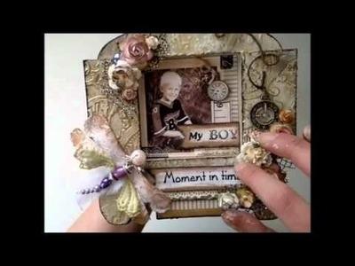 Picture Fram - Altered 'Grandmas clock' diecut from Annespapercreations.com