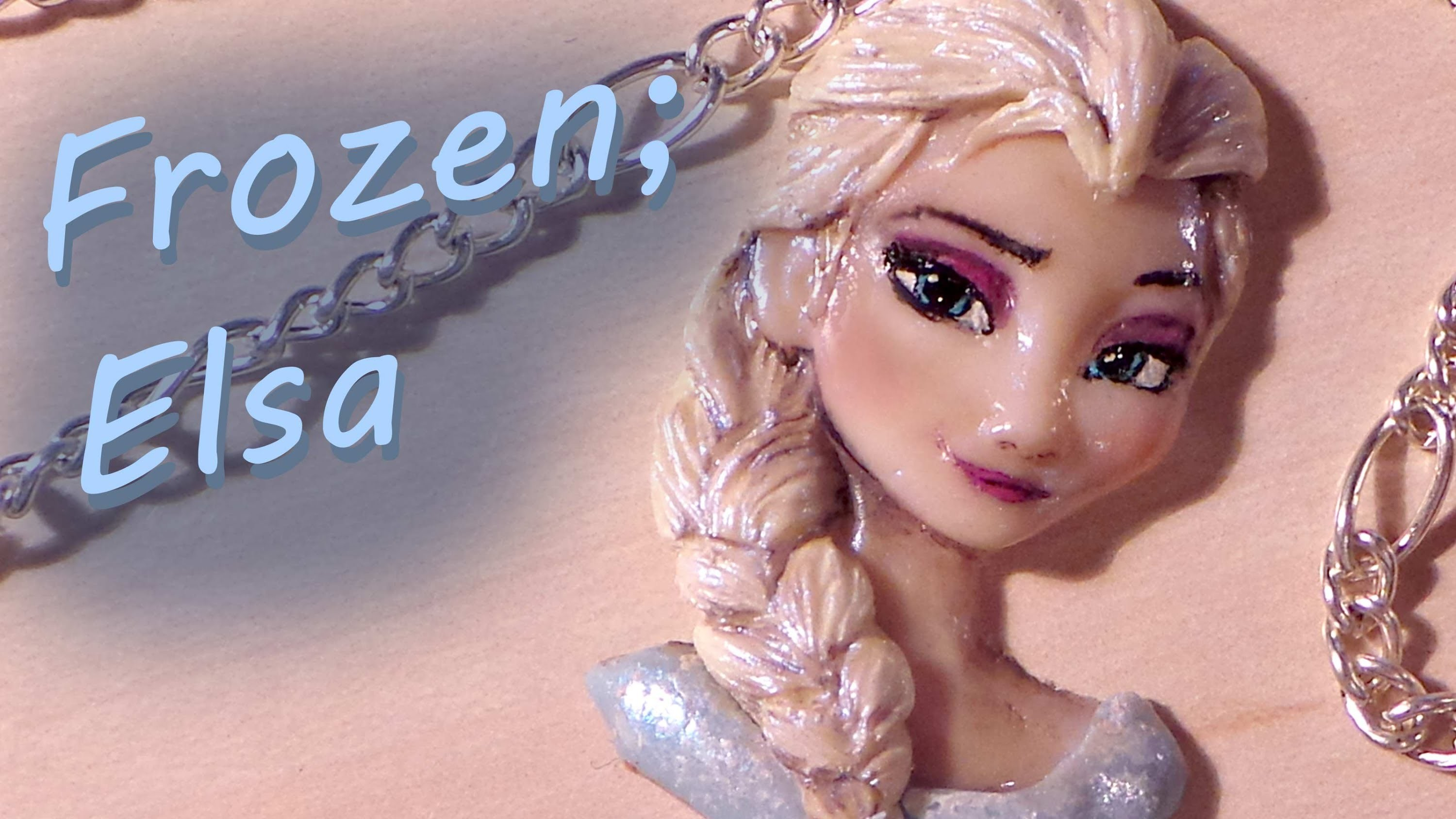 Polymer Clay; Elsa from Frozen