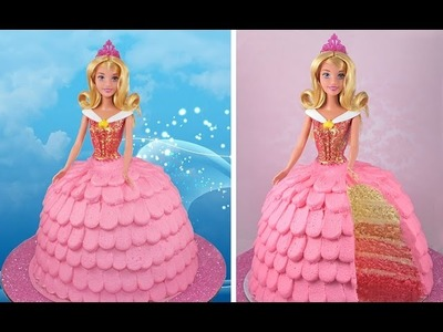 Princess Aurora Cake! How to Make a Disney Sleeping Beauty OMBRE Layer Cake!