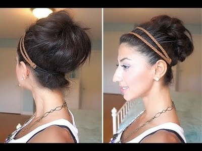 Quick & Messy Bun. Up-Do