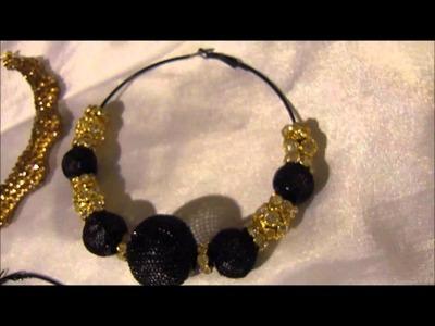 Swarovski Crystal Hoop Earrings Basketball Wives Inspired