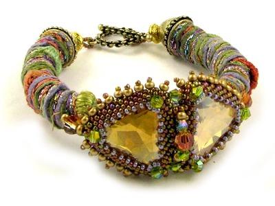 Wrapped Fiber Bracelet or Necklace