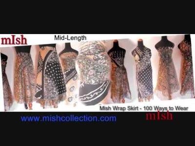 1 Wrap Skirt - 100 Ways to Wear - Multiwear Wrap Around Skirts - 2 Layered Reversible