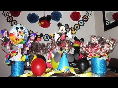 1st Birthday Decoration Mickey Mouse Theme