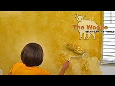 2-Color Roller Faux Finish Painting by The Woolie (How To Paint Your Walls)