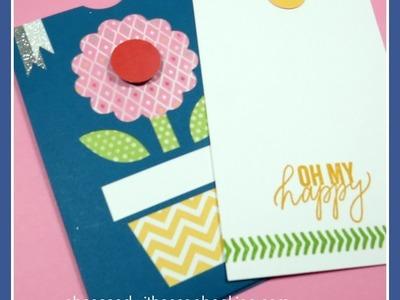 Artfully Sent Cricut Flower Pocket Card