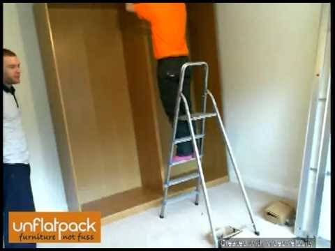 Assembly of Ikea Pax Malm Sliding Door Wardrobe - Assembled from Flatpack