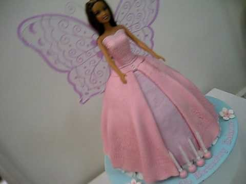 Barbie Fairy Princess Doll Cake (for how to make my doll cakes go to my channel)