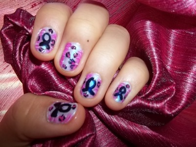 Breast cancer awareness month nail art tutorial-inspired by Love4nails