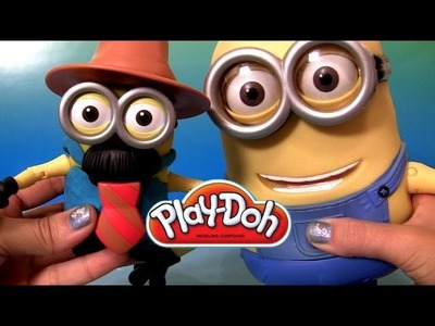Build a Play Doh Minion Mr. Tim From Despicable 2 Minions Talking Dave Play Dough Toy Review