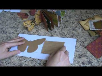 Butterfly paper bag mini album tutorial