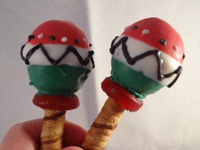 Cinco de Mayo Maracas Cookies (that you can shake!) -with yoyomax12