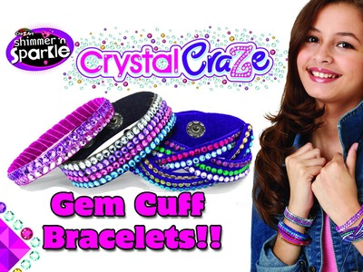 CRAZART CRYSTAL CRAZE GEM CUFF BRACELET unboxing and how-to by DTSE Ditzy