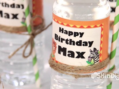 Custom Personalized Water & Bottle Labels - Shindigz Party Supplies