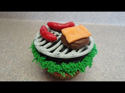"""Decorating Cupcakes #46:  Father's Day """"The backyard BBQ"""""""
