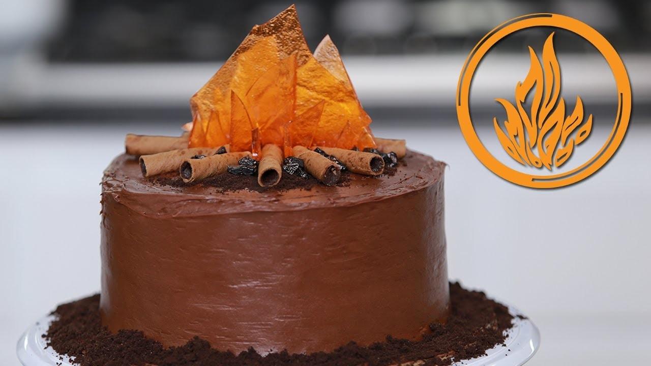 DIVERGENT DAUNTLESS CAKE - NERDY NUMMIES