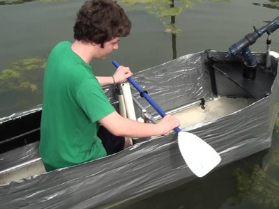 Duct Tape Boat - First Test of My Sons Latest Project -  Featured on SYFY Insane or Inspired