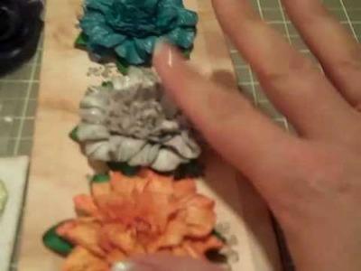 Flower Swap! Look at these beautiful handmade flowers!