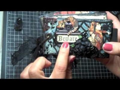 """Graphic 45 """"Hallowe'en in Wonderland"""" Tissue Roll Mini Album"""