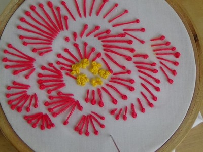 Hand Embroidery: Long Stalk French Knot Stitch