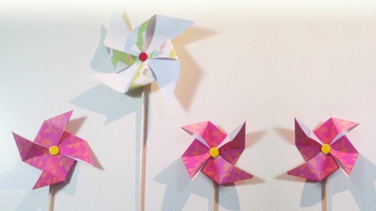 HD. TUTO: Moulin à vent, deux façons de faire - Windmill, two ways to do