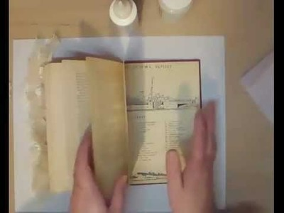 Here is the Altered Book Tutorial Part 1