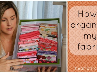 How I Organize My Fabric AND More!