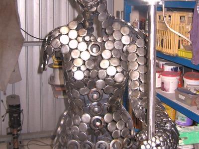"How to Build a Steel Sculpture ""Fortuna Goddess"" Marc Spurgin Metal Sculpture by Design"