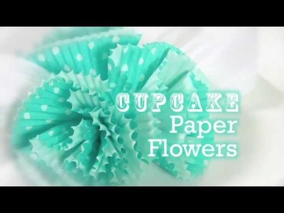 How to Create Cupcake Paper Flowers with Aleene's Original Tacky Glue!