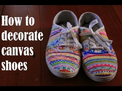 How to decorate canvas shoes