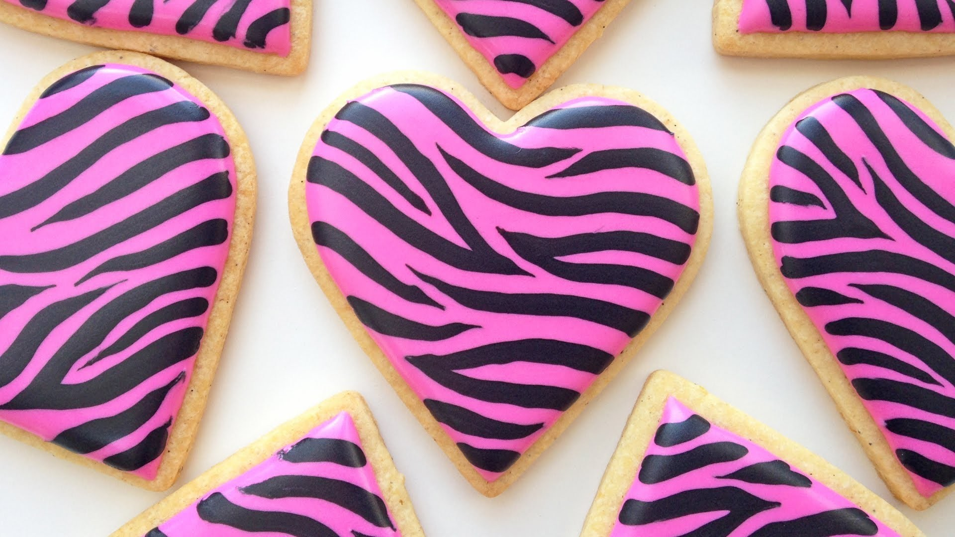 How To Decorate Zebra Print Cookies!