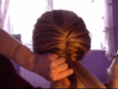 How To Do A Fishtail Braid On Yourself.