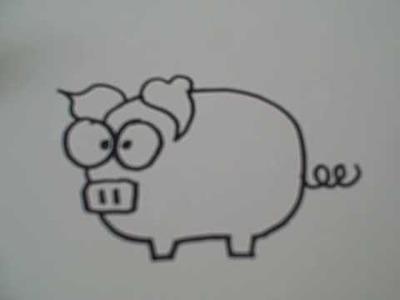 How to Draw a Cartoon Pig