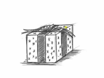 How to Draw a Christmas Present - Draw a Birthday Present
