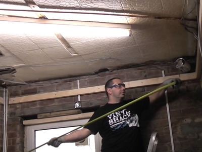 How to install a stud ceiling