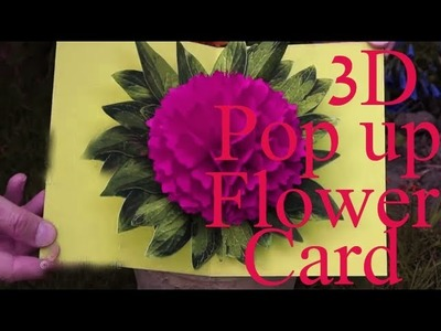 How to make 3D POP UP flower Card BEST OF ALL Youtube