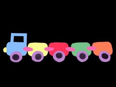 How to make a colored paper train for school wall decoration - EP