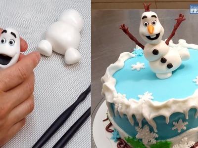 How To Make A Frozen Olaf Cake  by CakesStepbyStep