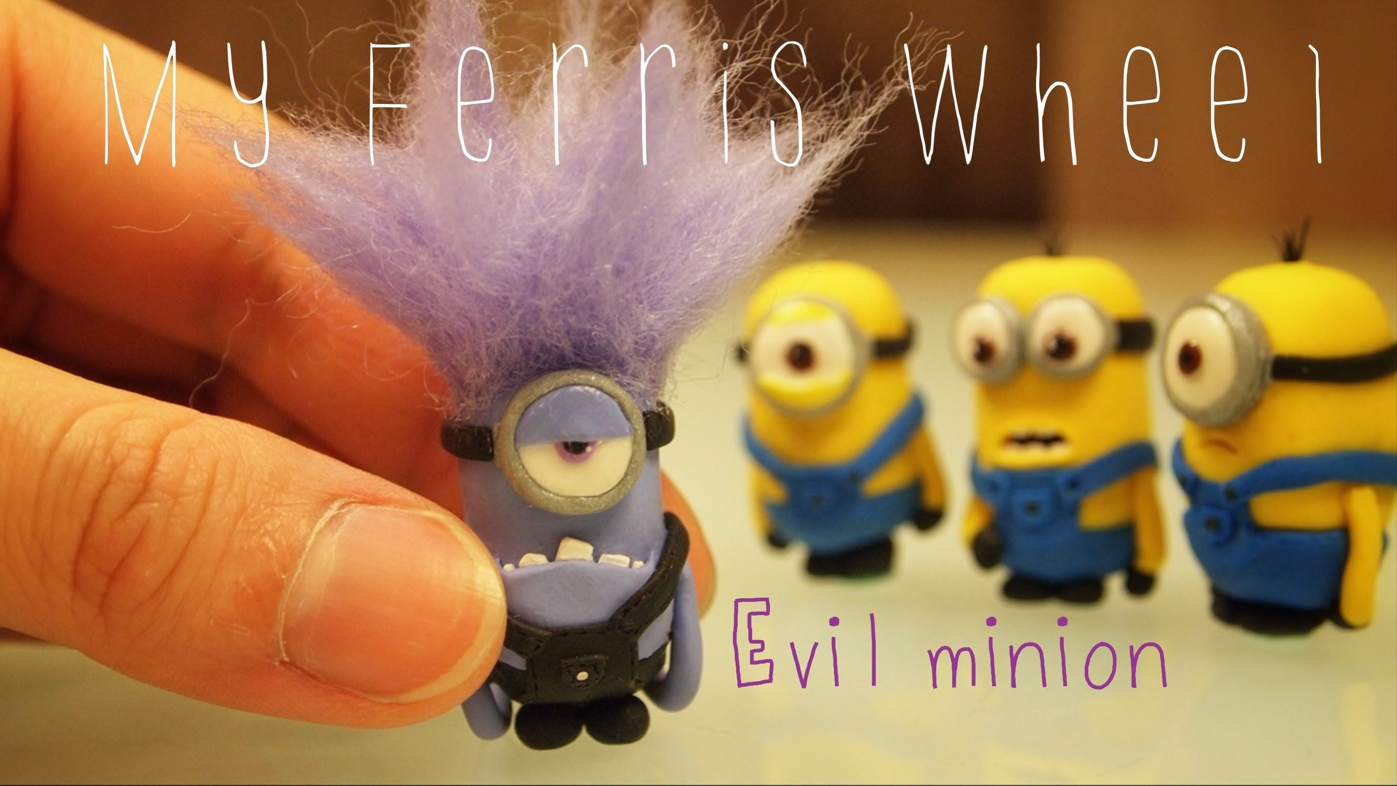 How to make a miniature evil purple minion out of polymer clay (Despicable Me 2)