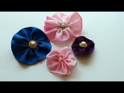 How To Make an Easy Ribbon Rose Brooch